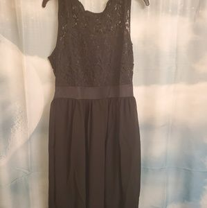 Lace and sheer black dress